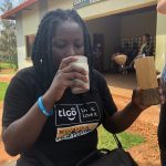 Good coffee on the go for our guide Honorine